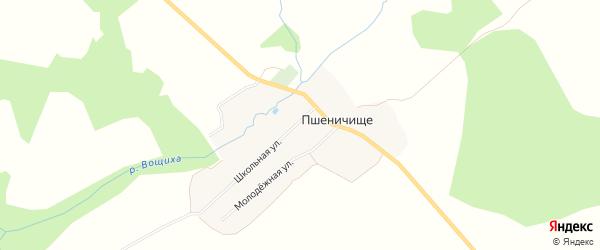 Карта села Пшеничища в Ярославская области с улицами и номерами домов