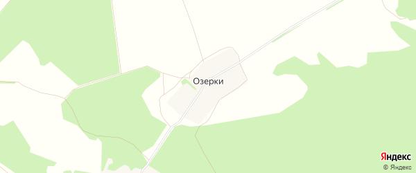 Карта поселка Озерки в Рязанской области с улицами и номерами домов