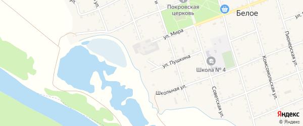 Переулок Суворова на карте Белого села Адыгеи с номерами домов