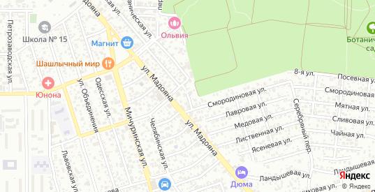Кукурузный переулок в Ростове-на-Дону с номерами домов на карте. Спутник и схема онлайн