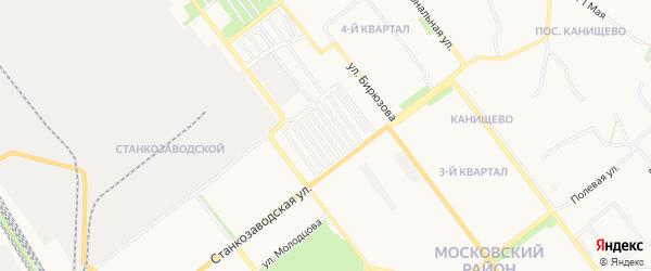 Территория ГСК а.к. Пресс на карте Рязани с номерами домов