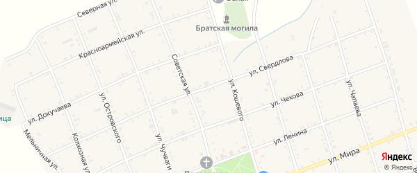Улица Свердлова на карте Белого села Адыгеи с номерами домов