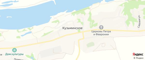 Карта Кузьминского села в Рязанской области с улицами и номерами домов