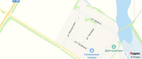 Улица Матросова на карте Еленовского села Адыгеи с номерами домов
