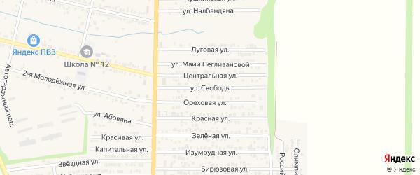 Улица Свободы на карте хутора Красного Крыма Ростовской области с номерами домов