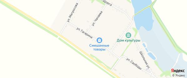 Улица Гагарина на карте Еленовского села Адыгеи с номерами домов