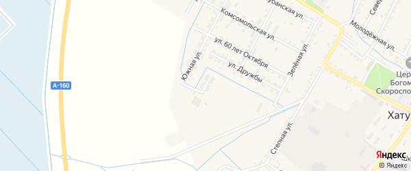 Пионерская улица на карте аула Хатукая Адыгеи с номерами домов