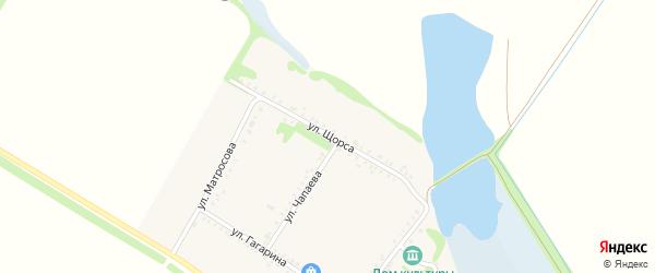 Улица Щорса на карте Еленовского села Адыгеи с номерами домов