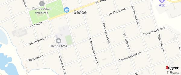 Школьная улица на карте Белого села Адыгеи с номерами домов
