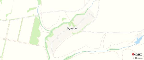 Карта деревни Бучалы в Рязанской области с улицами и номерами домов