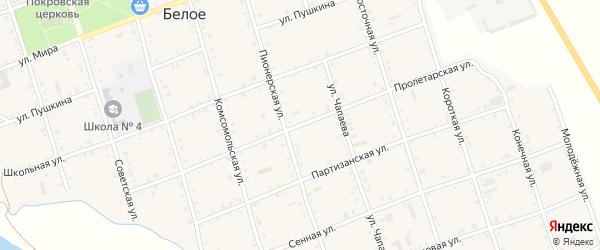 Пролетарская улица на карте Белого села Адыгеи с номерами домов