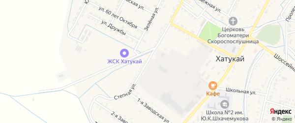 Степная улица на карте аула Хатукая Адыгеи с номерами домов