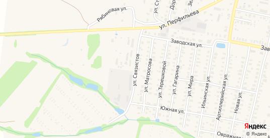 Улица Связистов в Юрьевом-Польском с номерами домов на карте. Спутник и схема онлайн