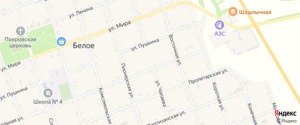Улица Чапаева на карте Белого села Адыгеи с номерами домов