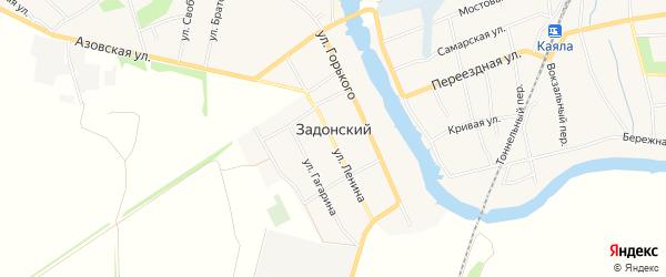 Карта Задонского хутора в Ростовской области с улицами и номерами домов