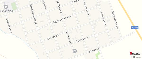 Сенная улица на карте Белого села Адыгеи с номерами домов