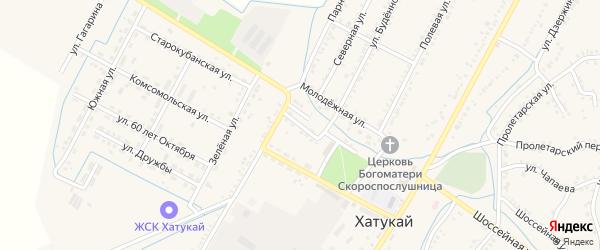 Улица Кочубея на карте аула Хатукая Адыгеи с номерами домов