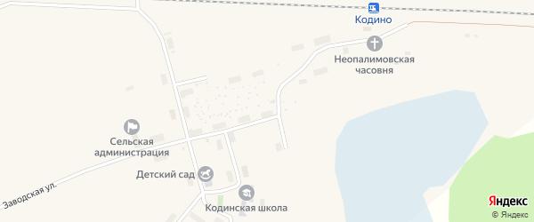 Железнодорожная улица на карте железнодорожной станции Поньги с номерами домов