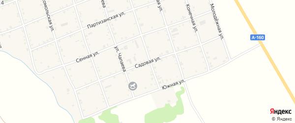 Садовая улица на карте Белого села Адыгеи с номерами домов