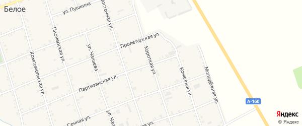 Короткая улица на карте Белого села Адыгеи с номерами домов