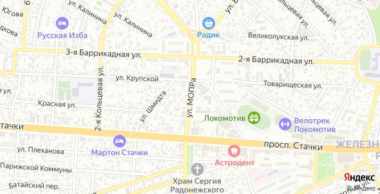 Улица Мопра в Ростове-на-Дону с номерами домов на карте. Спутник и схема онлайн