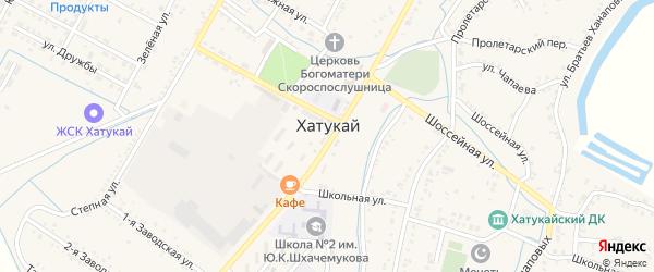 Подлесная улица на карте аула Хатукая Адыгеи с номерами домов