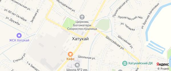 Улица Мира на карте аула Хатукая с номерами домов