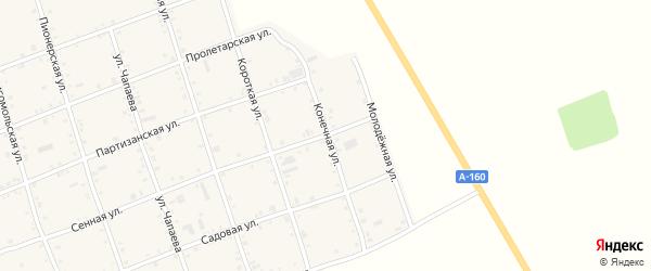 Конечная улица на карте Белого села Адыгеи с номерами домов