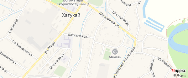 Пролетарская улица на карте аула Хатукая Адыгеи с номерами домов