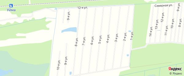 СНТ ПЕСЧАНЫЙ на карте Северодвинска с номерами домов