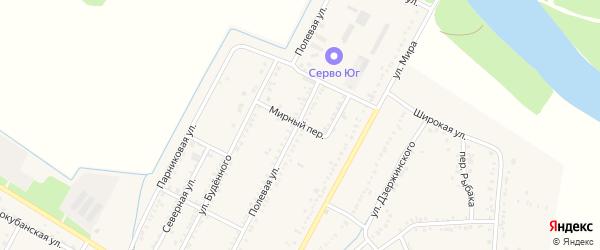 Мирный переулок на карте аула Хатукая с номерами домов