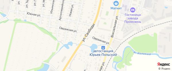 Улица Свободы на карте Юрьева-Польского с номерами домов