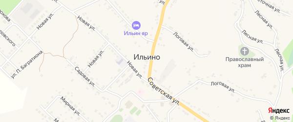 Радужная улица на карте села Ильино Липецкой области с номерами домов