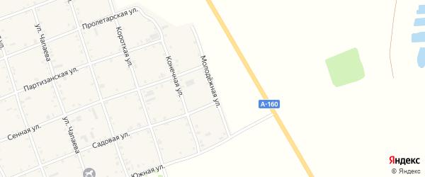 Молодежная улица на карте Белого села Адыгеи с номерами домов