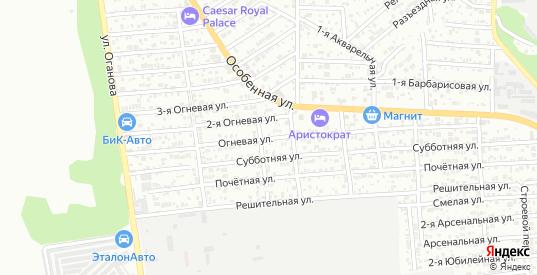 Огневая улица в Ростове-на-Дону с номерами домов на карте. Спутник и схема онлайн