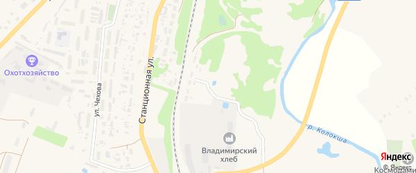 Линейная улица на карте Юрьева-Польского с номерами домов