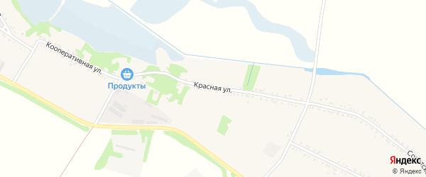 Красная улица на карте Еленовского села Адыгеи с номерами домов