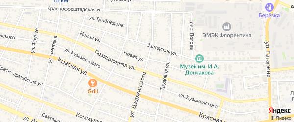 Новая улица на карте Усть-Лабинска с номерами домов