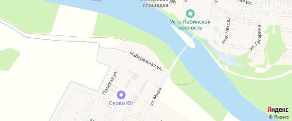Набережная улица на карте аула Хатукая Адыгеи с номерами домов