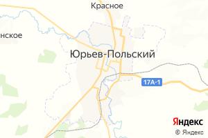Карта г. Юрьев-Польский Владимирская область