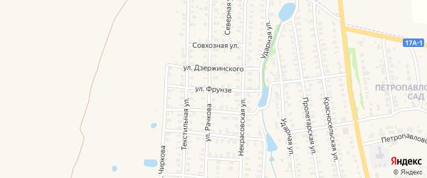 Улица Фрунзе на карте Юрьева-Польского с номерами домов
