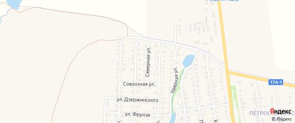 Северная улица на карте Юрьева-Польского с номерами домов