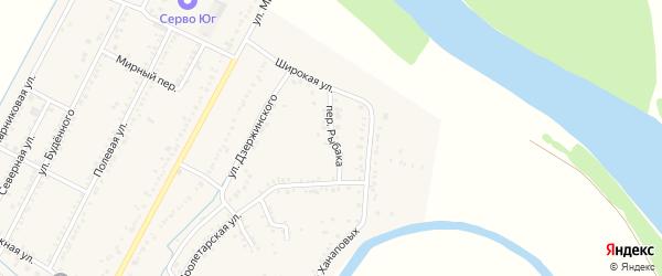 Переулок Рыбака на карте аула Хатукая с номерами домов