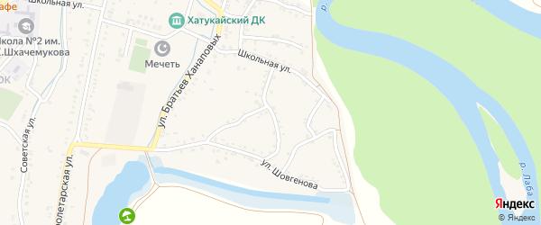 Улица Лели Богузоковой на карте аула Хатукая Адыгеи с номерами домов
