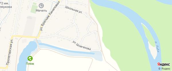 Улица Суворова на карте аула Хатукая с номерами домов