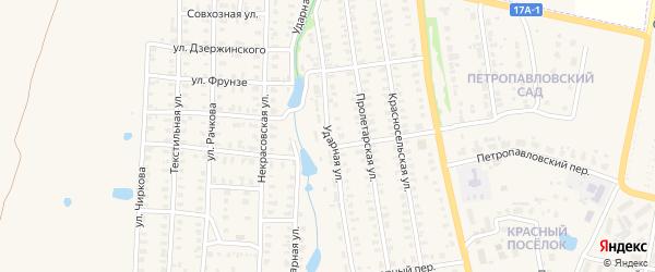Ударная улица на карте Юрьева-Польского с номерами домов