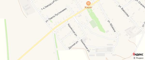 Крымская улица на карте села Большие Салы Ростовской области с номерами домов