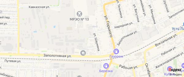 Точный переулок на карте Усть-Лабинска с номерами домов