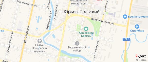 Улица Завалье на карте Юрьева-Польского с номерами домов