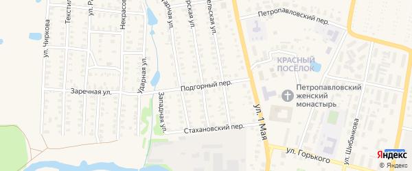Подгорный переулок на карте Юрьева-Польского с номерами домов